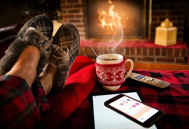 coffee mug in a cozy sweater