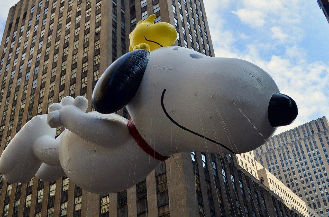 Snoopy balloon in Macy's Parade