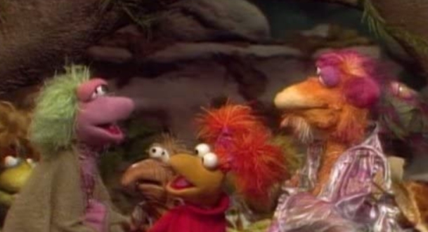 image from Fraggle Rock episode about Mokey and the Minstrels