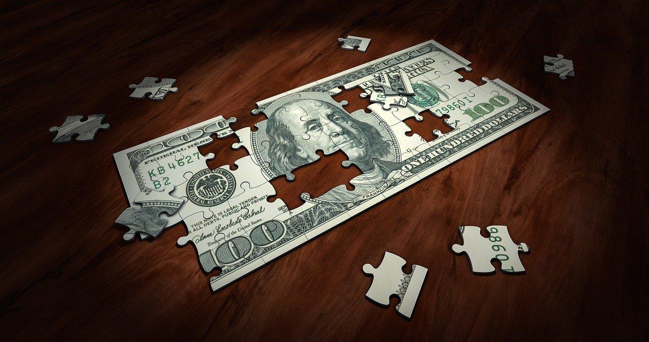 100 dollar bill jigsaw puzzle