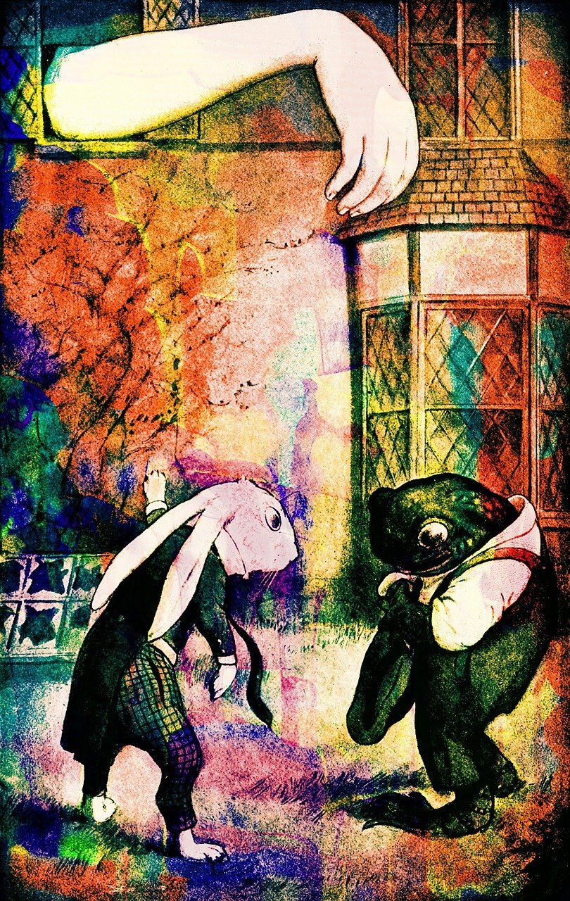 Alice in Wonderland: Alice stuck in the White Rabbit's house