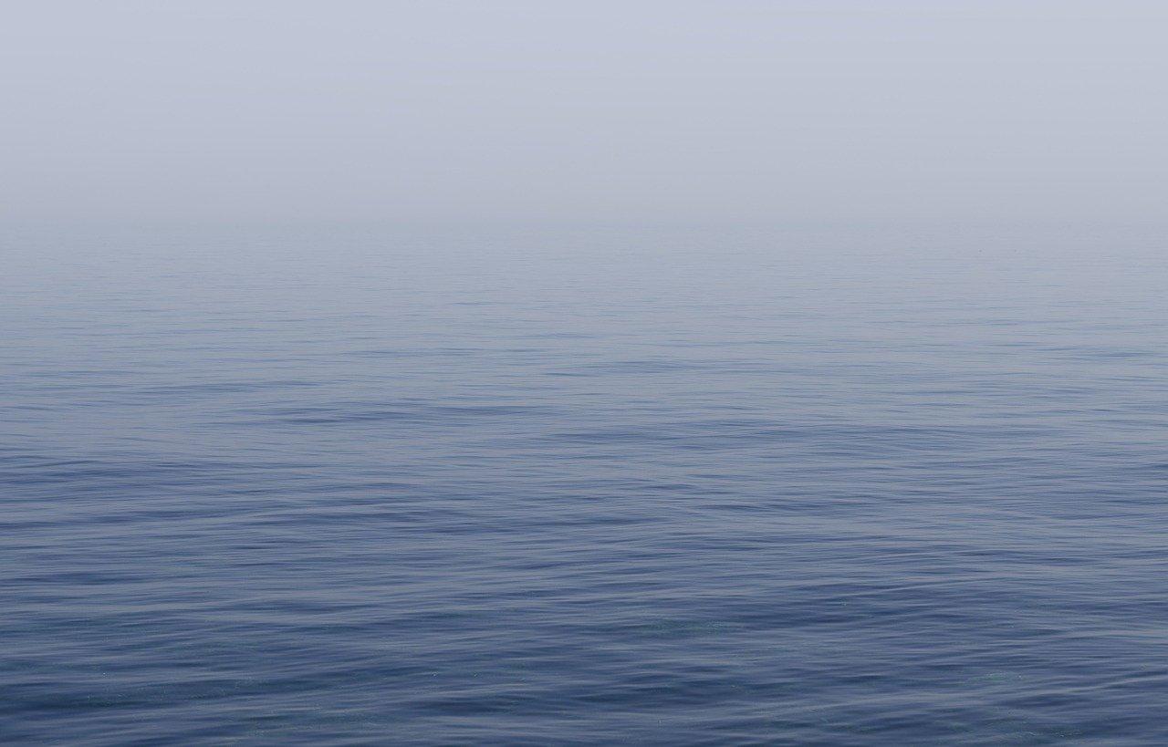 foggy flat sea